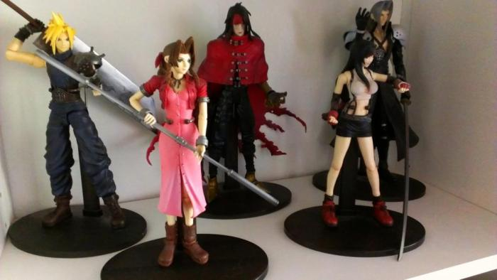 My small collection of Final Fantasy 7 figures. I purchased all of these at Anime Expo 2009 and 2010.