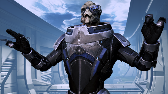 """I'm Garrus Vakarian and this is now my favorite spot on the Citadel!"""