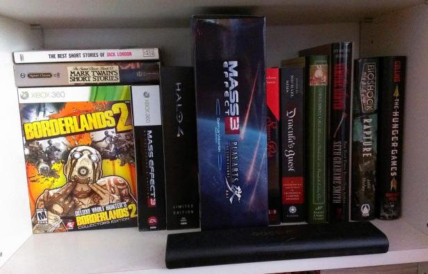 Some collectible boxes and books I like.